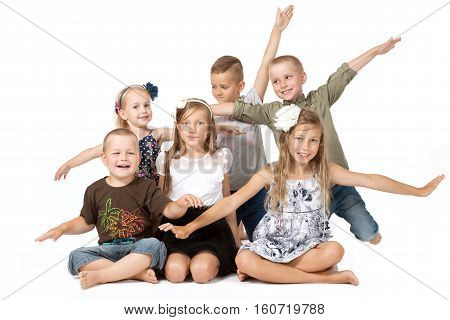 a group of children playing- fun, team building with joy,