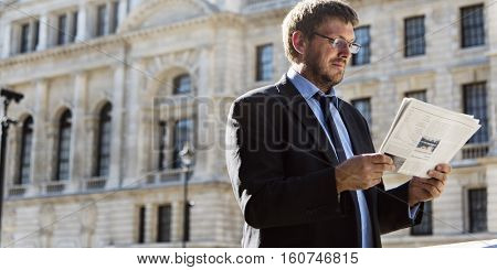 Businessman Caucasian Male Professional Concept