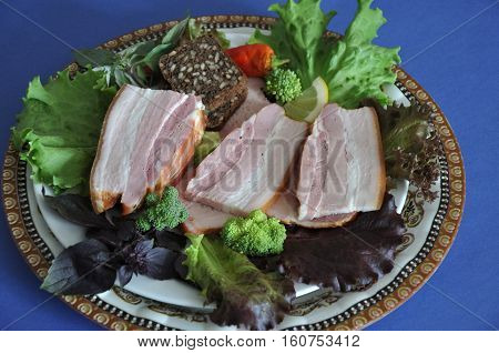 Pieces Of Meat With Herbs