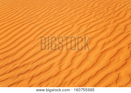 Close-up On Sands Of The Desert