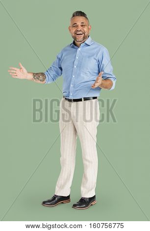 Adult Man Happiness Fun Smiling Natural Concept