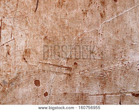 Red background wall texture, grunge crack plaster