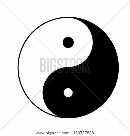 yin yang icon isolated on white background. yin yang sign.