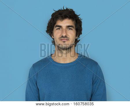 Caucasian Man Casual Confident Attractive Concept