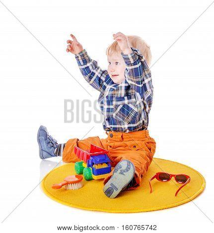Capricious Boy Sitting