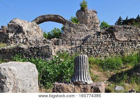 unique Philippi archaeological site in  Greece Europe