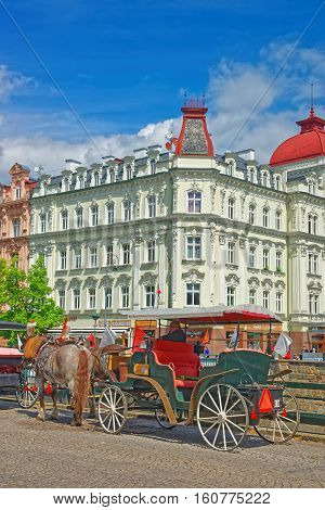 Horse Carriage Karlovy Vary Czech Republic