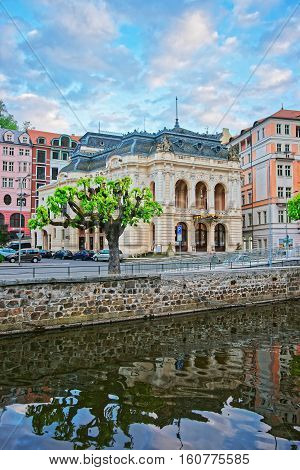 Opera House At Tepla River Of Karlovy Vary
