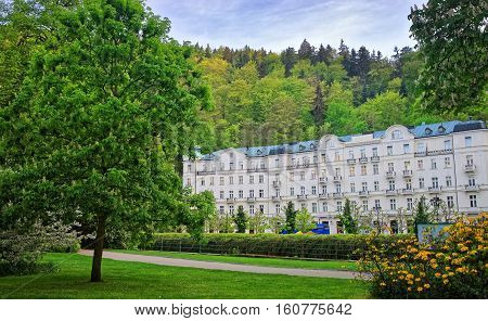 Park And Building Architecture Karlovy Vary