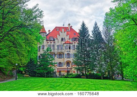 Park And Building Architecture Of Karlovy Vary