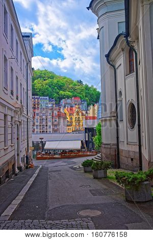 Street And Building Architecture In Karlovy Vary