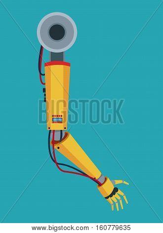 industrial robot arm industry factory vector illustration eps 10