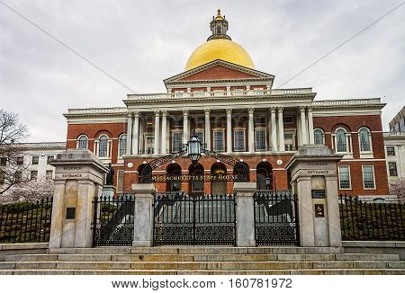 State Library Of Massachusetts In Downtown Boston Us
