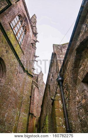 Abbey Mont Saint Michel In Normandy Manche France