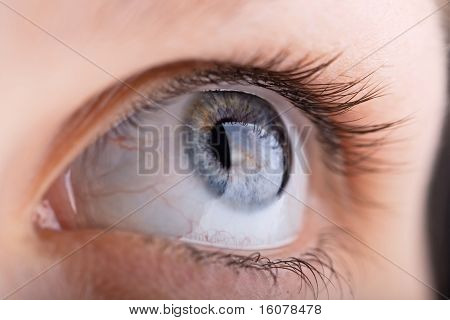 Close Up Shot Of A Womans Eye
