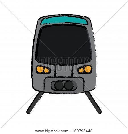 gray high speed train passenger rail road sketch vector illustration eps 10