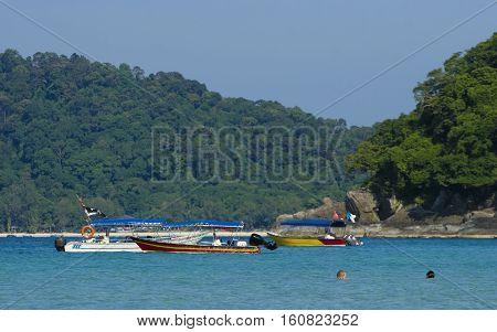 Beautiful scene at Perhentian Kecil Island Terengganu Malaysia.