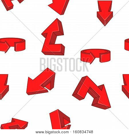 Red direction arrows pattern. Cartoon illustration of direction arrows vector pattern for web