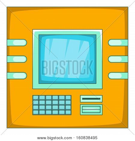 Cash machine icon. Cartoon illustration of cash machine vector icon for web