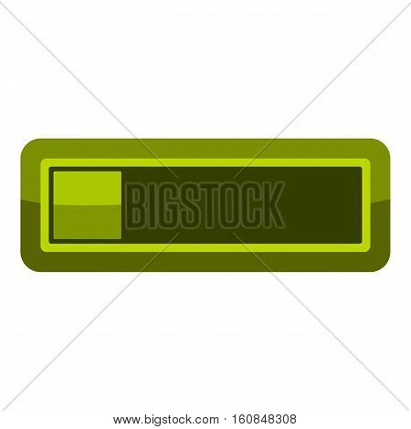 Player green button icon. Cartoon illustration of player green button vector icon for web