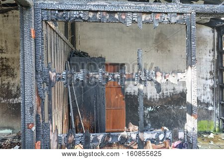 home fire detail images conflagration with copy space for add text