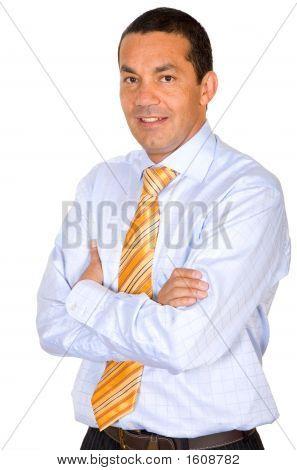 Retrato de hombre de negocios seguros