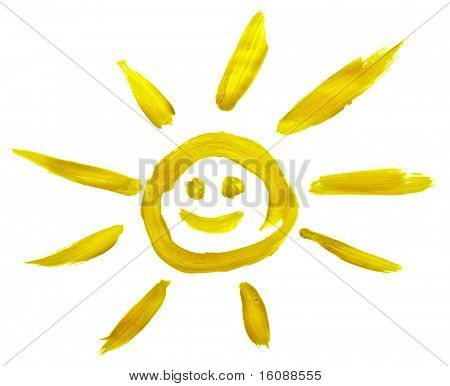 Sun painted by child