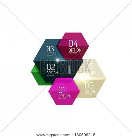 Vector infographic diagram templates for business background, numbered banners, graphic website