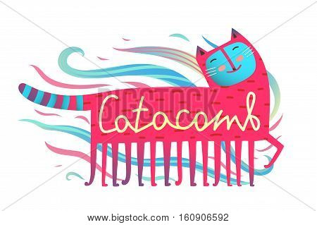 Humor and fun pet print design. Vector illustration.