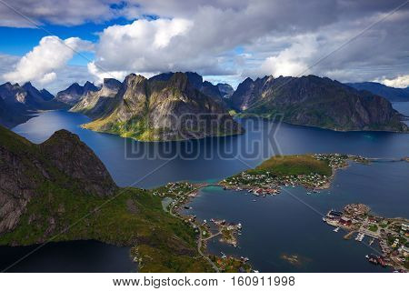 Reine is a fillage in the northern most part of Norway in the Lofoten Islands.