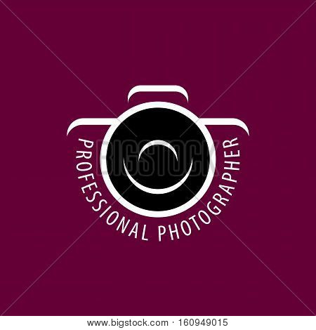 template design logo photographer. Vector illustration of icon