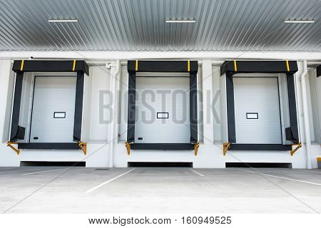 Gates for goods under overhang or loading bay for distribution warehouse is the heart and soul of a warehouse storage loading and shipment to the destination