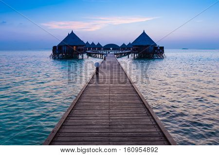 Vacation on a tropical island. Luxury Resort in the Maldives. Ari Atoll.