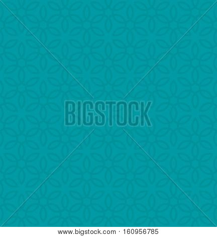 Floral ornament. Turquoise Neutral Seamless Pattern for Modern Design in Flat Style. Tileable Geometric Vector Background.