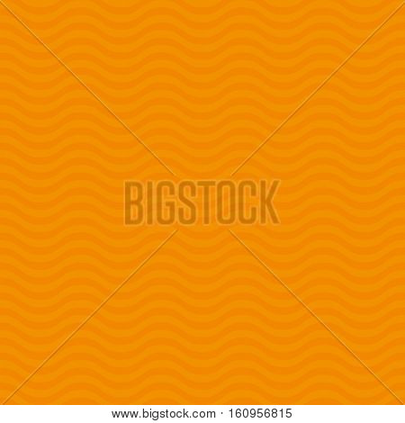 Wavy pattern. Orange Neutral Seamless Pattern for Modern Design in Flat Style. Tileable Geometric Vector Background.