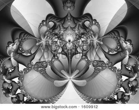 A graphic abstract fractal design in