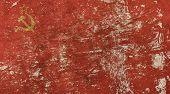 Постер, плакат: Old Grunge Vintage Faded Ussr Soviet Union Flag