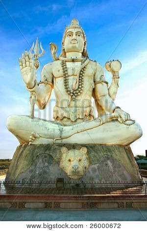 Big statue of India's God Shiva ,India