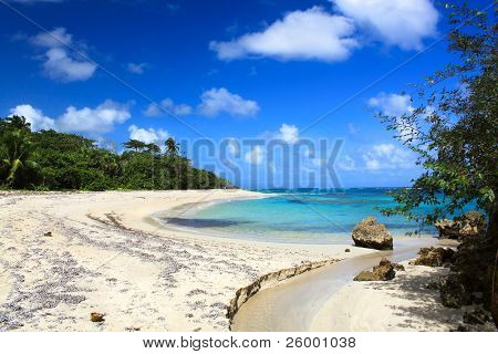 Small river on Beautiful tropical  beach Maguana, Guantanamo province, Cuba