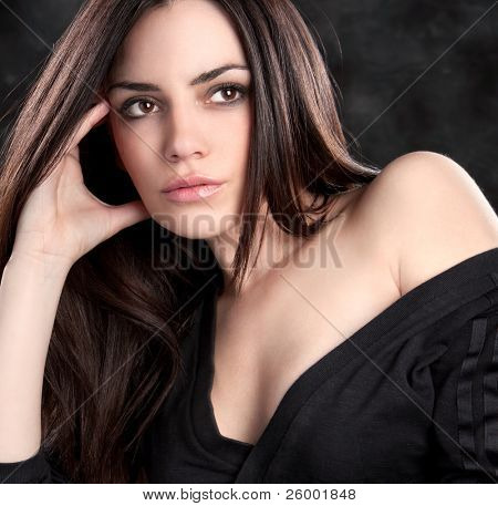 Beautiful  sensual woman  posing, studio shot