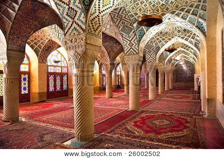 Prayer Hall of Nasir al-Molk Mosque, Shiraz, Iran