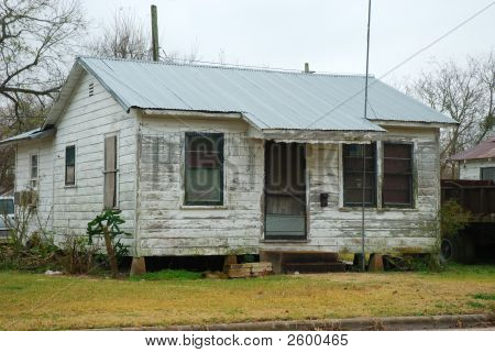 Wooden House In A Small Town In America
