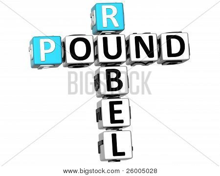3D Rubel Pound Crossword