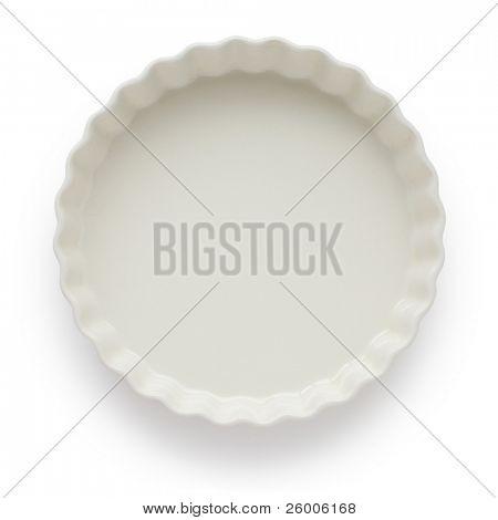 White Tart Dish