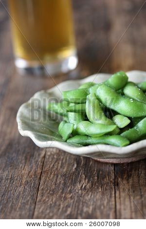 Beer and Boiled Green Soybeans