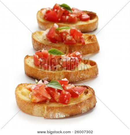 Bruschetta( Italian Toasted Garlic Bread ) with tomato