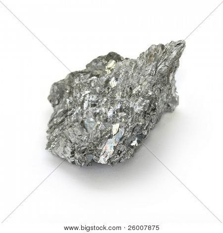 Antimony, minor metals on white background