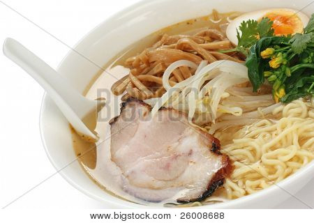 Miso Ramen Noodles , Japanese Food