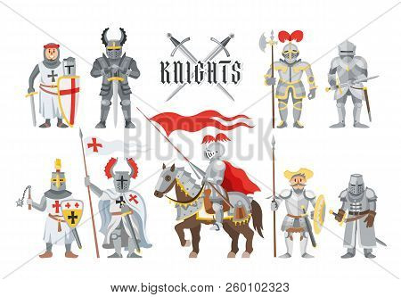 Knight Vector Medieval Knighthood And