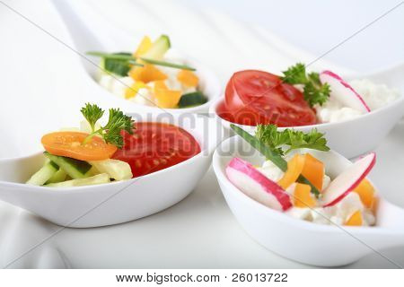 Fingerfood served in small spoons